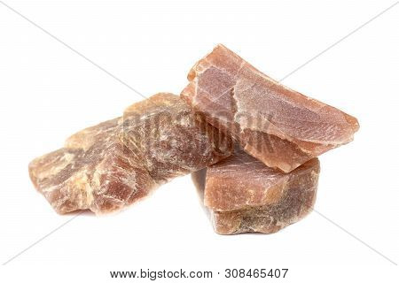 Sunstone Mineral For Accessories Industrial Isolate On White Background
