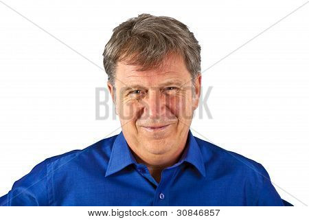 Happy Attractive Posing Man In Studio