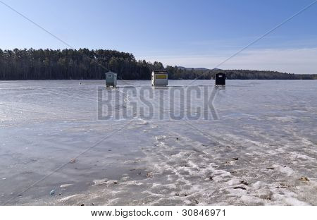 Lincolnville Ice Shacks