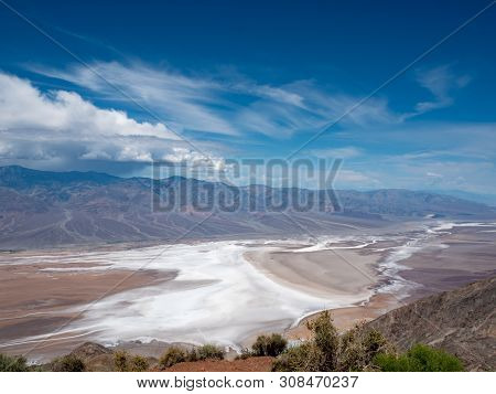 Dante's View In Death Valley National Park Of The Valley Floor And Surrounding Mountains (panamint)