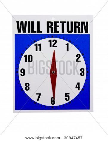 Will Return Retail Sign