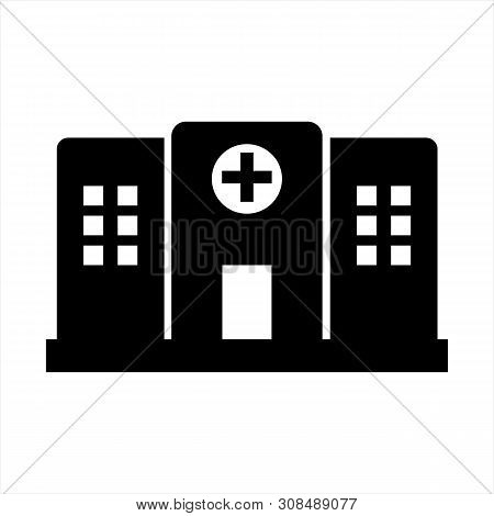 Hospital Icon Isolated On White Background. Hospital Icon Modern Symbol For Graphic And Web Design.