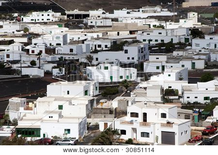 View To Rural Village Of Uga In Lanzarote