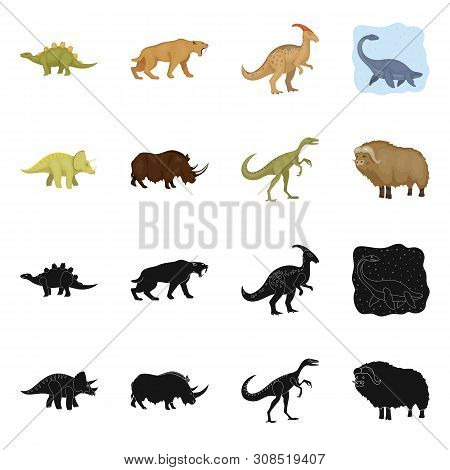 Vector Design Of Animal And Character Icon. Collection Of Animal And Ancient Stock Symbol For Web.