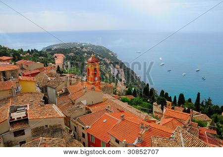 View Of The Roquebrune Cap Martin, France poster