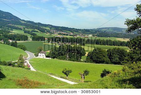 Gruyere village - homeland of Swiss cheese