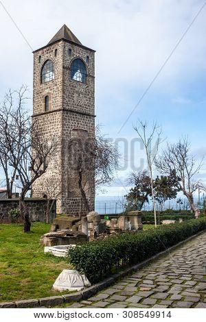 Bell Tower Of Hagia Sophia Church In Trabzon, Turkey