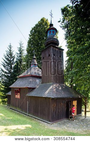 Semetkovce, Slovakia - August 09, 2015: Greek Catholic Church Of St Michael The Archangel From 1752