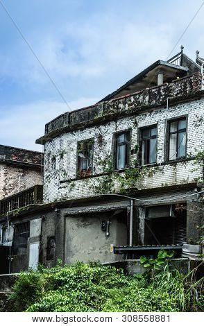 Taiwan,taipei-04 Sep 2017:the Old Building In Taiwan Jiufen Village