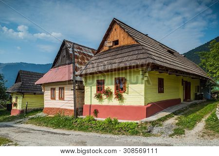 Vlkolinec, Slovakia. 12 August 2015. Vlkolinec In Northern Slovakia. A Unesco Heritage Village With