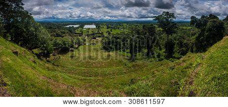 View From Wat Phu Champasak Temple In Laos