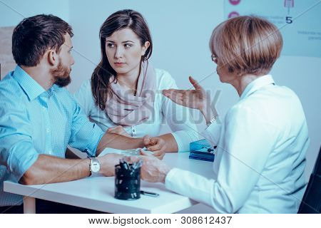 Young Married Couple With Problem Of Infertility And During In Vitro Process