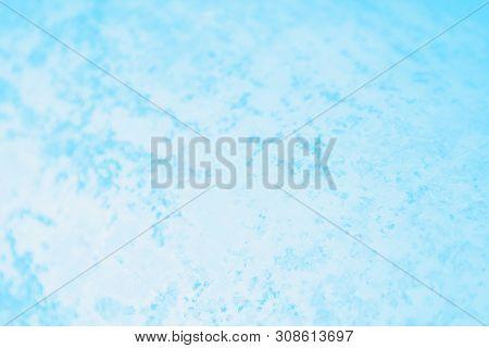 Blue Gradient Color. Concrete Or Beton Pattern, Patchy Background