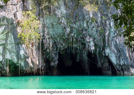 The Entrance To The Underground River In Puerto Princesa Subterranean River National Park, Palawan,
