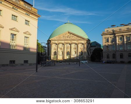 St Hedwigs Catholic Cathedral In Berlin