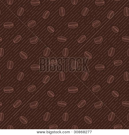 Seamless texture with coffee beans.