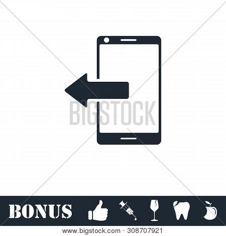 Outcoming Calls Icon Flat. Vector Illustration Symbol And Bonus Pictogram