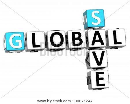 3D Global Trade Crossword Text