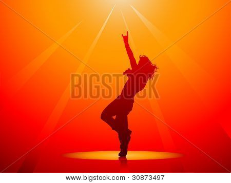 Hard Rock Singer Silhouette