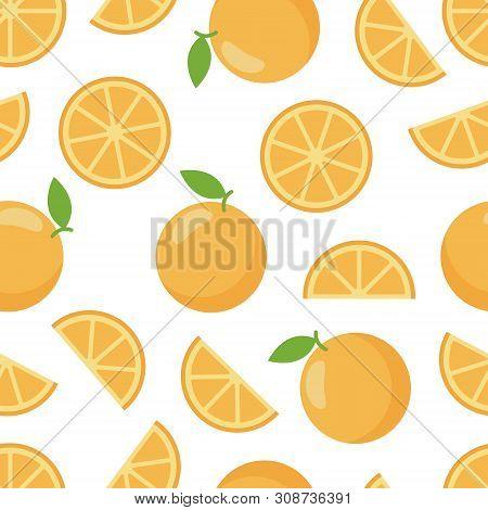 Pattern Seamless Of Orange, Organic Sweet Dessert