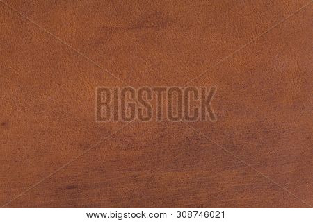 Old Brown Scratched Leather Texture. Hi Resolution Photo For Background.