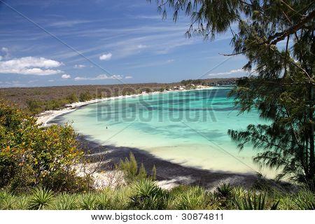 turquoise coast on Bay of Pigeons