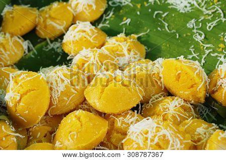 Toddy Palm Cake (kanom Tarn) , Thai Dessert
