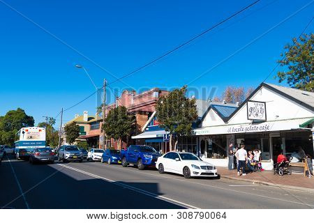 People Enjoying The Long Weekend In The Small Historic Country Town Of Berry, Best Known For Award-w