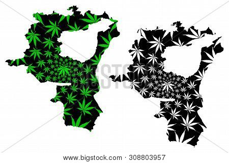 St. Gallen (cantons Of Switzerland, Swiss Cantons, Swiss Confederation) Map Is Designed Cannabis Lea