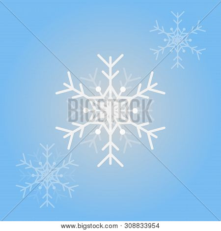 Vector Snowflakes  For Christmas Design. Isolated Snowflakes Background