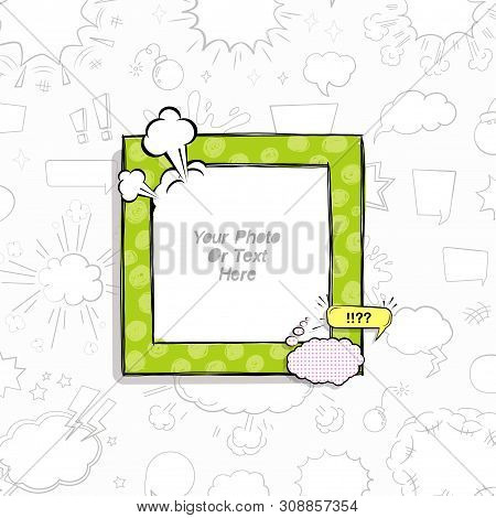 Cartoon Art Styles. Decorative Comic Vector Template Frames. Those Photo Frames You Can Use For Kids