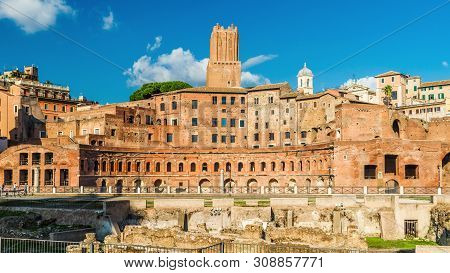 Trajan's Forum With Ancient Market, Rome, Italy