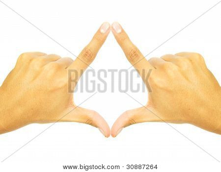 two hands fused together to form a symbol