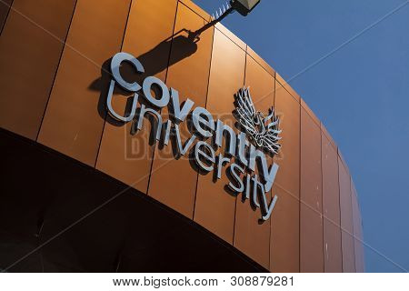Coventry, Warwickshire, United Kingsom, June 27th 2019,  Logo On The Coventry University Alan Berry