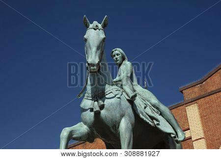 Coventry, Warwickshire, United Kingsom, June 27th 2019, Statue Of Lady Godiva