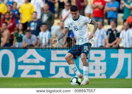 Rio De Janeiro, Brazil - June 28, 2019: R. Rosales Altuve Of Argentina Kicks The Ball During The 201