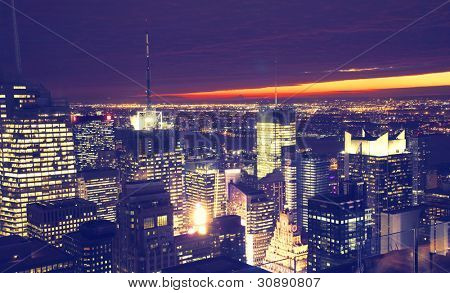 Night view of a big city