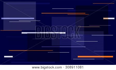 Fast Moving Street Lights, Speed Lines, Neon It, Hi Tech Vector Background. Internet Technology Comm