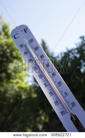 Symbol Photo Of A Heat Record In Summer