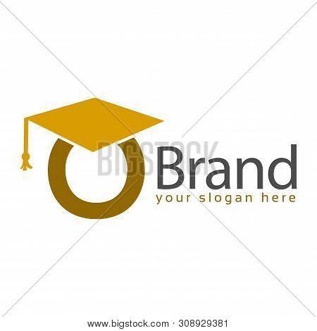 Graduation Logo Stock, Letter O, Education Logo