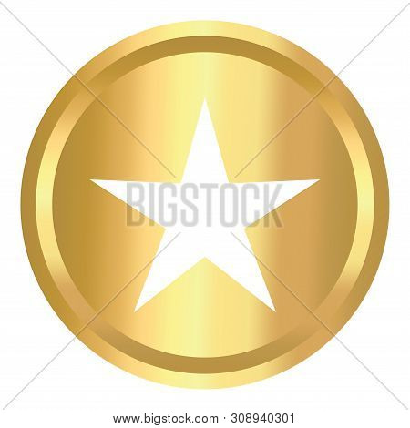 Star Shield Gold Icon, Star Shield Gold Icon Eps10, Star Shield Gold Icon Vector, Star Icon Shield G
