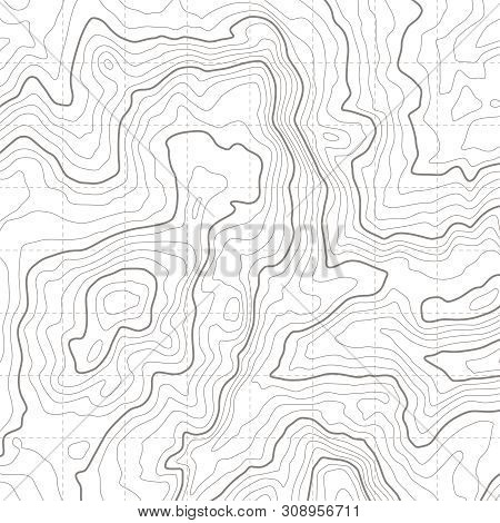 Topographic Map. Geographical Location Lines, Cartography Contour Line Nature Trails Relief Texture