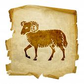 Aries Zodiac Icon, Isolated On White Background.
