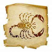 Scorpio Zodiac Icon, Isolated On White Background.
