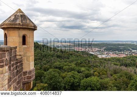 Scenic View From Castle Wartburg On Landscape Near Eisenach, Thuringia