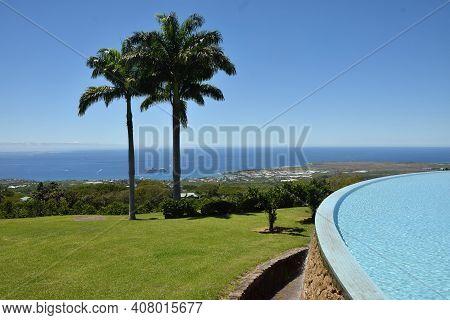 Tropical Coastal Scenery From Hwaii's Big Island