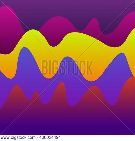 Abstract Background With Colorful Waves. Bright Banner With Bright Gradients. Vector Illustration