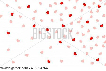 Valentines Day Background With Hearts, Vector Illustration, Eps 10