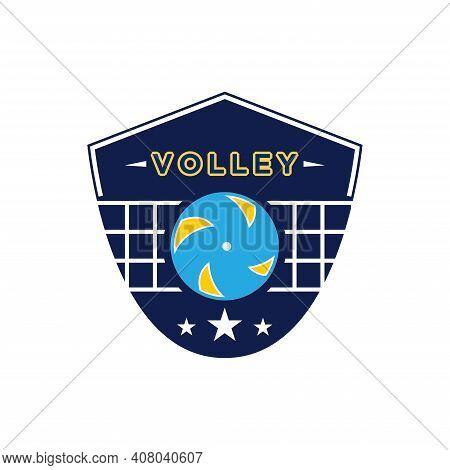 Vintage Badge Volley Sport Logo  Design Vector