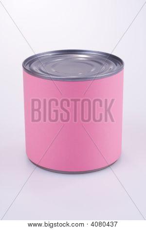 Close Up Of A Pink Tin Can
